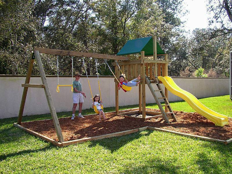 wooden swing sets with installation 1