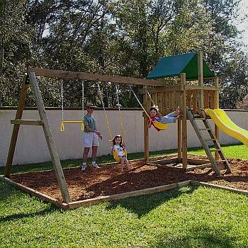 wooden swing set blueprints