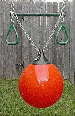 Blue Rabbit Play Kids Buoy Ball Swing with Rope//Chain Red