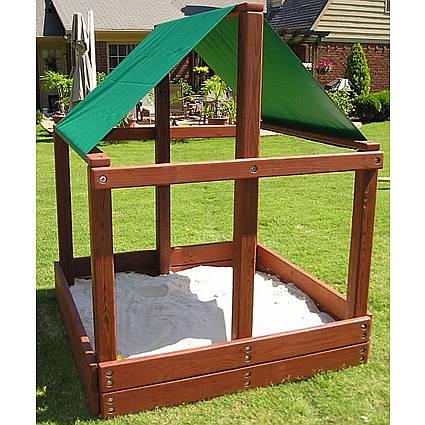 Covered Wooden Sandbox Kit - 5ft Square