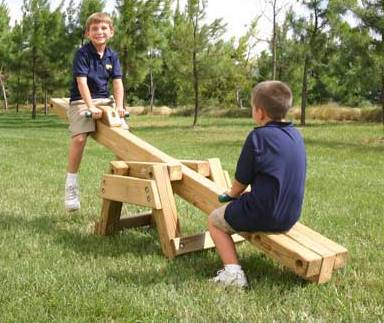 Wooden Seesaw Teeter Totter Kit