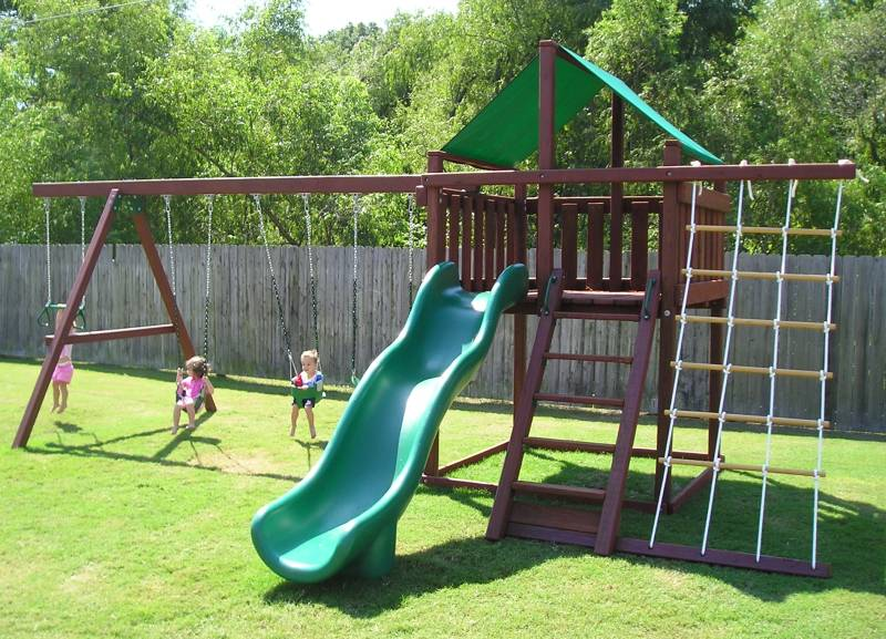 Trailblazer Swing Set Fort Kit Easy To Build 3d Plans