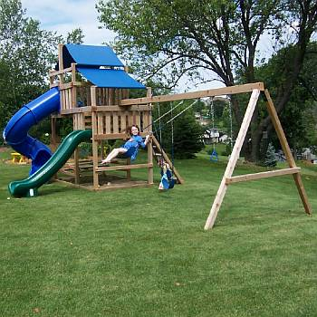 Wood Swing Set Kits Diy Swing Sets Custom Playset Plans