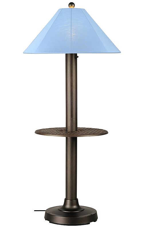 lamps catalina patio lamps catalina ii patio floor lamp with table. Black Bedroom Furniture Sets. Home Design Ideas