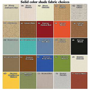 Solid Lamp Shade Fabric Colors