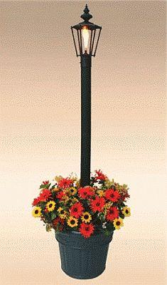 Islander Patio Lantern W Planter 00550
