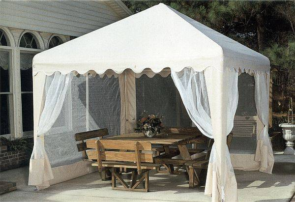 Click on above pictures to enlarge photo & Garden Party Canopy - 10ft Square Portable Shade