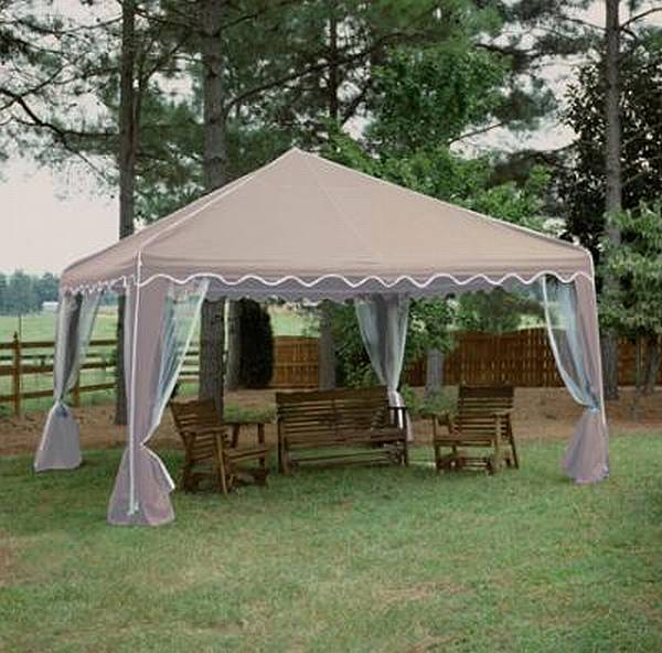 (Almond-Click for Larger View) & Garden Party Canopy - 13x13 Green - GP1313