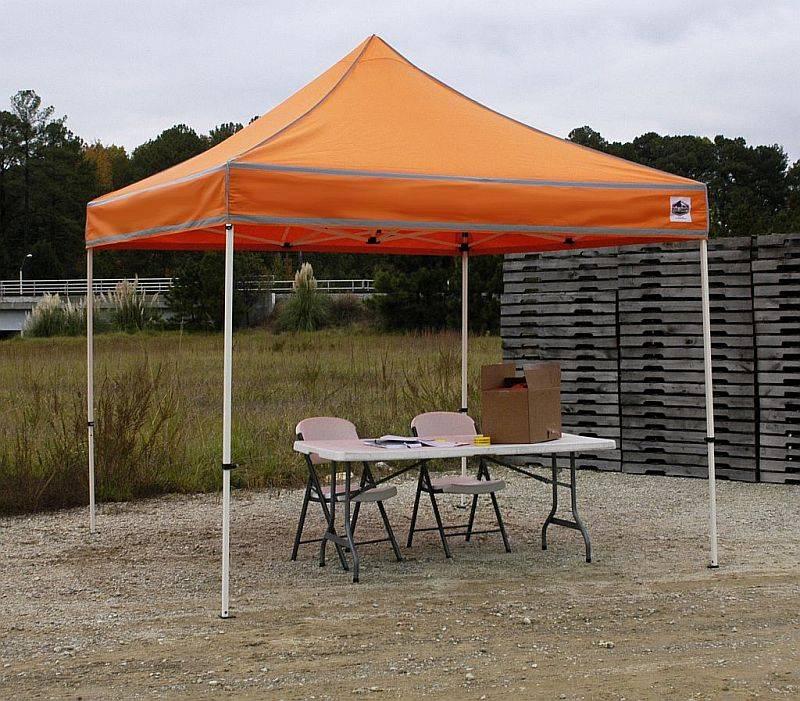 (Click for Larger View) & Festival 10ft x 10ft Hi-Visibilty Shade Canopy - FSSHST10ER