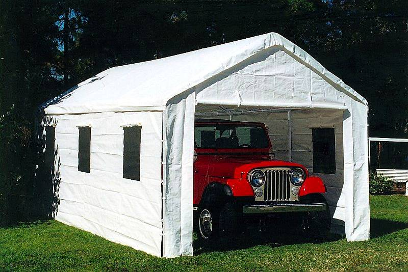 Portable 2 Car Canopies : Ft universal enclosed shade canopy bj pc