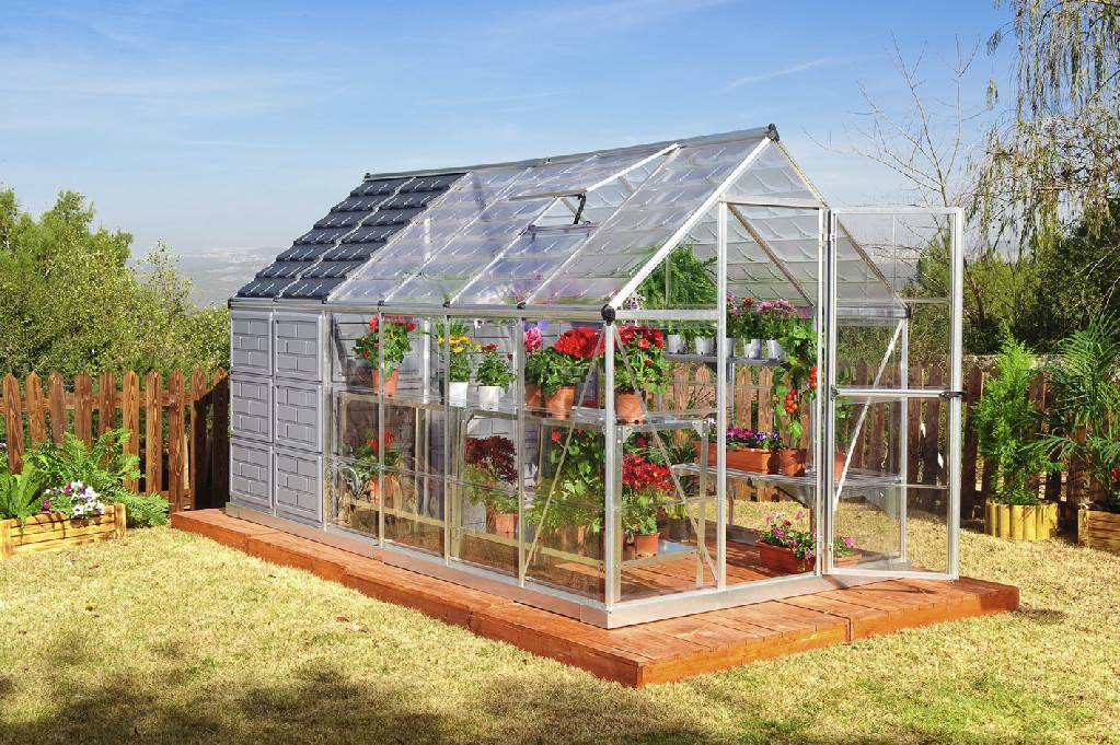 Grow and store 6x12 greenhouse with storage shed hg5112 for Green home building kits