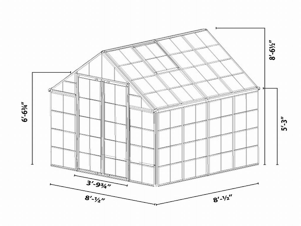snap  u0026 grow u2122 silver 8 x 8 greenhouse