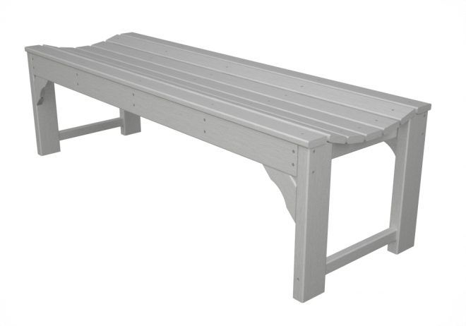 Traditional Backless Bench Recycled Outdoor Furniture