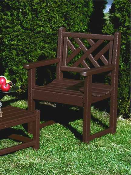 Chippendale Arm Chair Recycled Outdoor Furniture Cac26