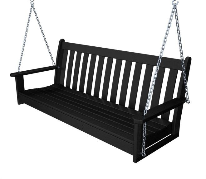 Vineyard 60in Porch Swing Recycled Outdoor Furniture Gns60