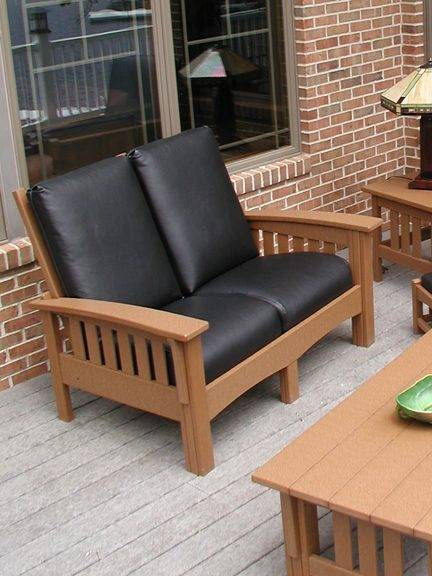Deep Seating Patio Furniture Cushions: Deep Seating Mission Loveseat