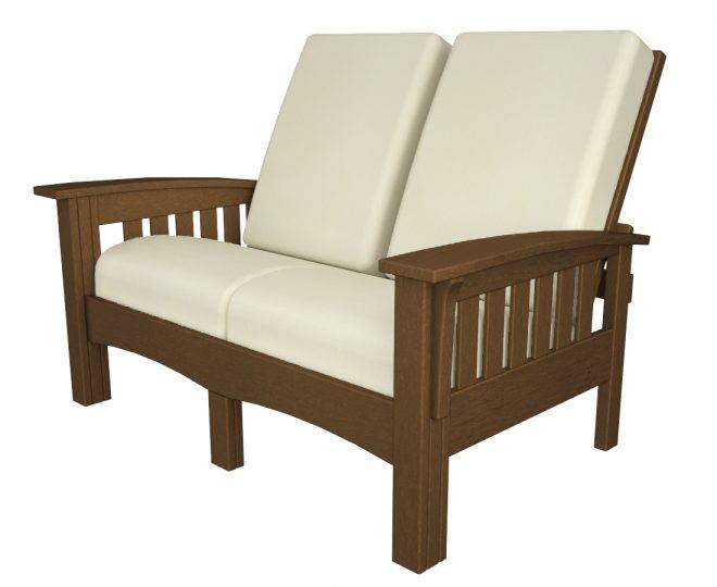 Deep Seating Mission Loveseat Recycled Outdoor Furniture