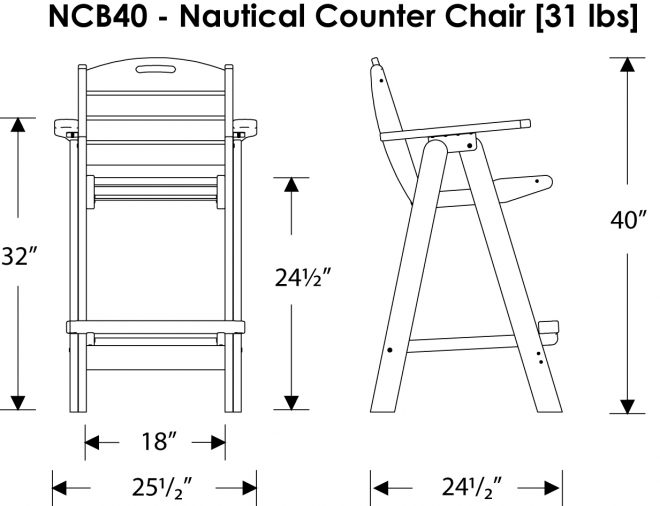 I NC Dining Chair on synthetic wood outdoor furniture