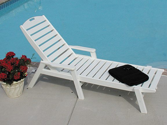 Nautical Stackable Chaise Lounge Recycled Outdoor