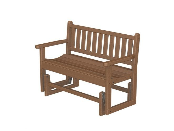 Traditional Garden Glider Bench Recycled Outdoor
