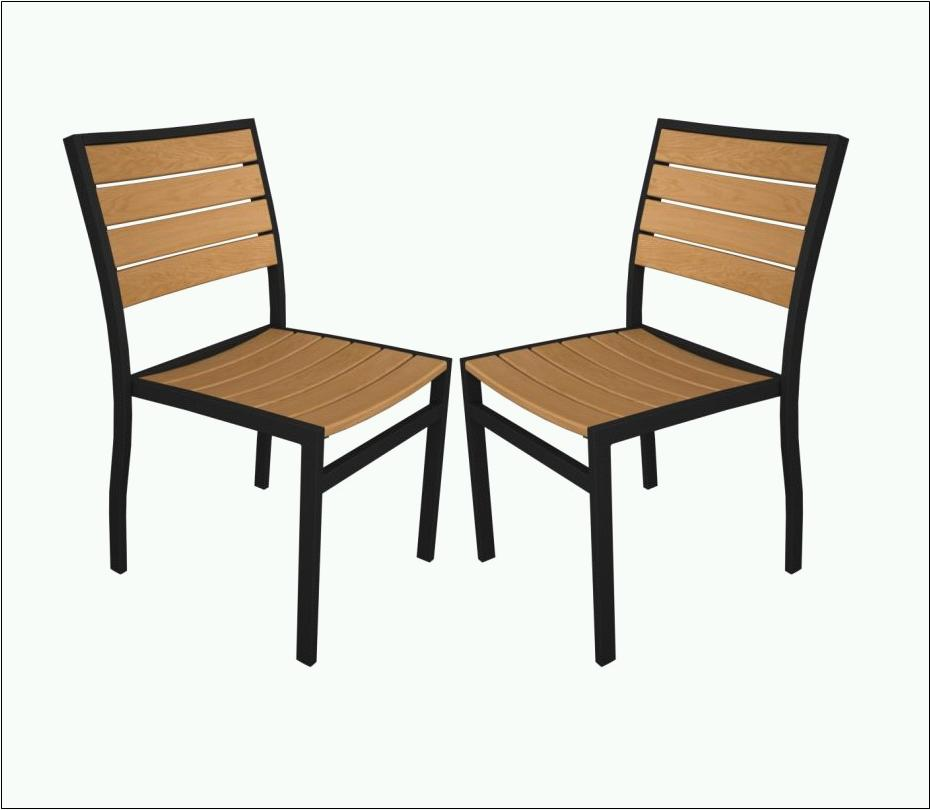 Polywood A100 Plastique Side Chair Recycled Outdoor Furniture By Poly Wood Inc