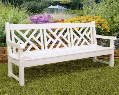 for furniture bench rockford inch polywood wood patio poly