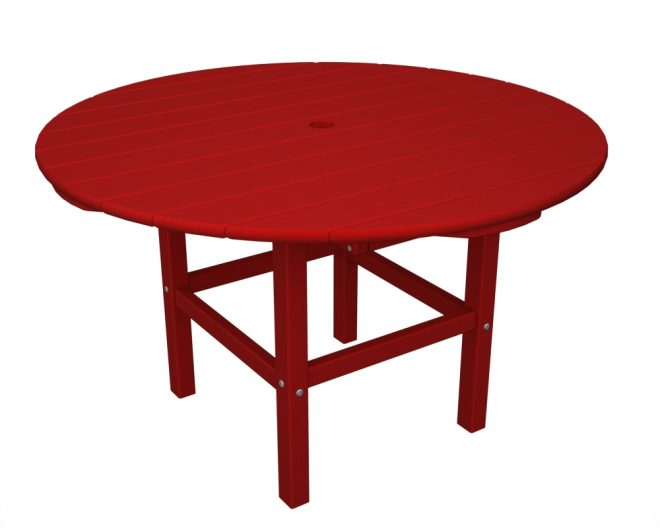 38in Round Kids Dining Table Recycled Outdoor Furniture RKT38