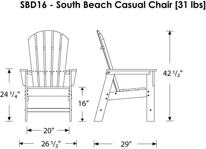 Arm Chair Sbd16 Polywood South Beach Collection Recycled