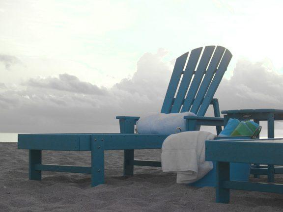 Chaise lounge sbc76 polywood south beach collection for Beach chaise lounger