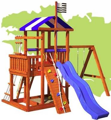 Brittany All Inclusive Wood Playset