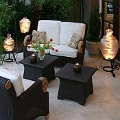 Outdoor patio lamp floor table waterproof shangri la outdoor patio lamps starlight lanterns aloadofball Choice Image