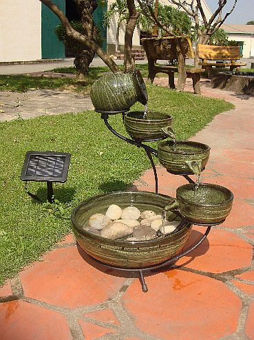 Solar Green Bamboo Fountain 23931r01