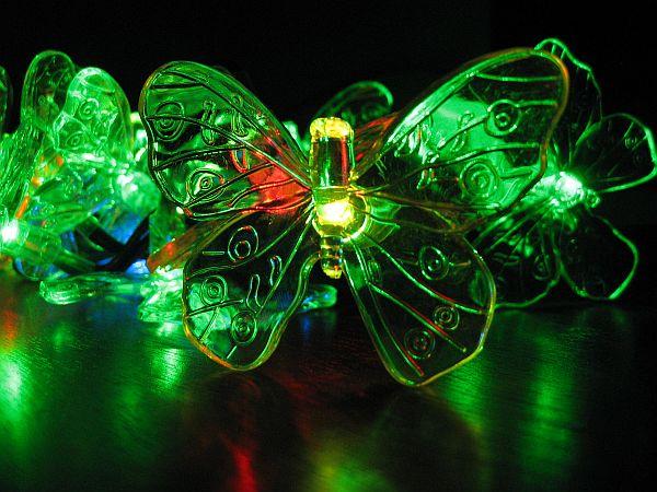 Solar Butterfly Light String