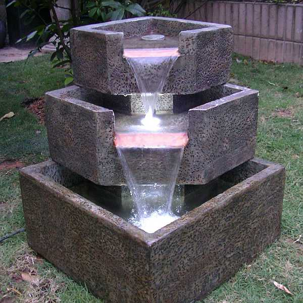 cascadia falls electric corner fountain 46200 resin fountain with