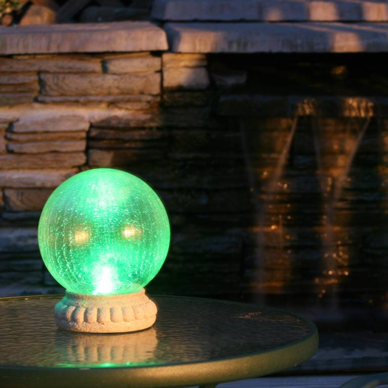 Crackled Glass Solar Gazing Ball 3568mrm1