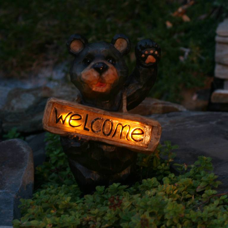 Welcome Bear Solar Accent Light 3569arm1