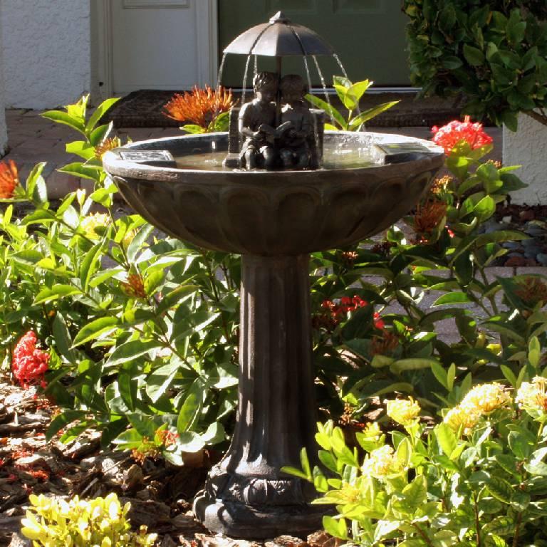 Umbrella Series Solar Fountain Bench 20326r01