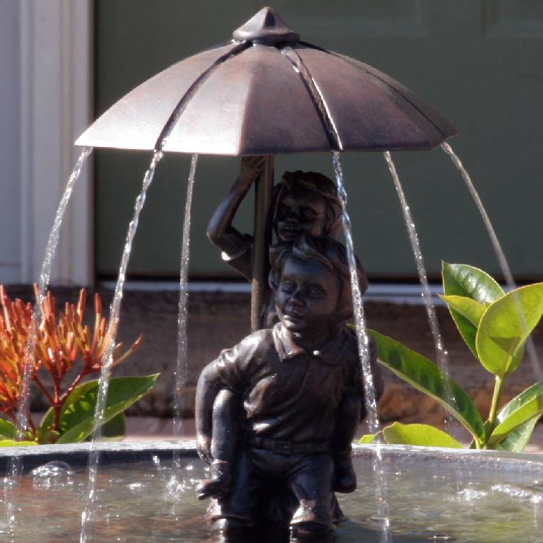 Umbrella Series Solar Fountain Piggyback 20336r01