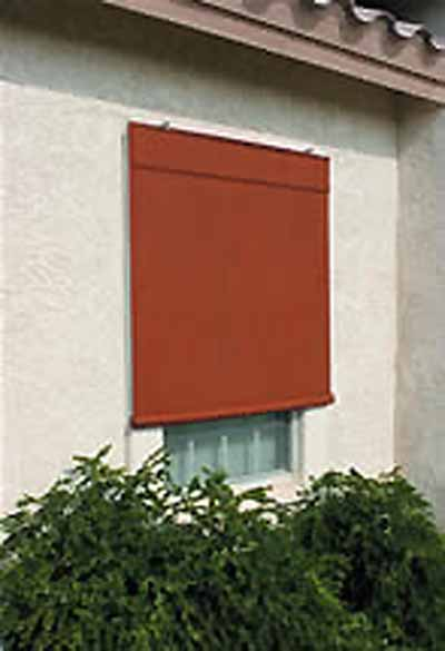Sunsational exterior solar shades 6ft x 6ft terracotta for Exterior window shade