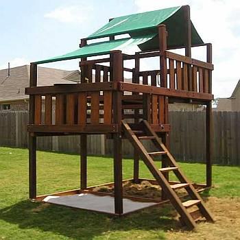 adventurer swing set fort kits plans 5ft 7ft high deck