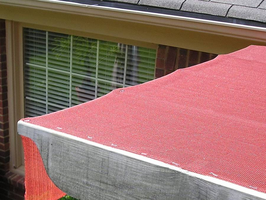 Keep fabric lines straight - How To EASILY Install Shade Cloth GUIDE Over A Patio, Pergola, Deck