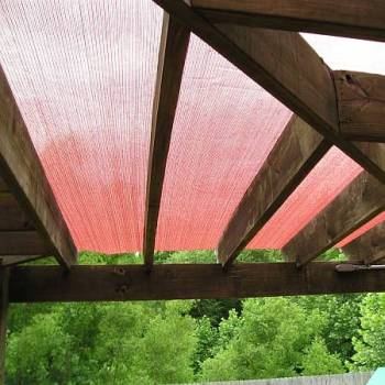 Underside View Of Shade Cloth on Pergola