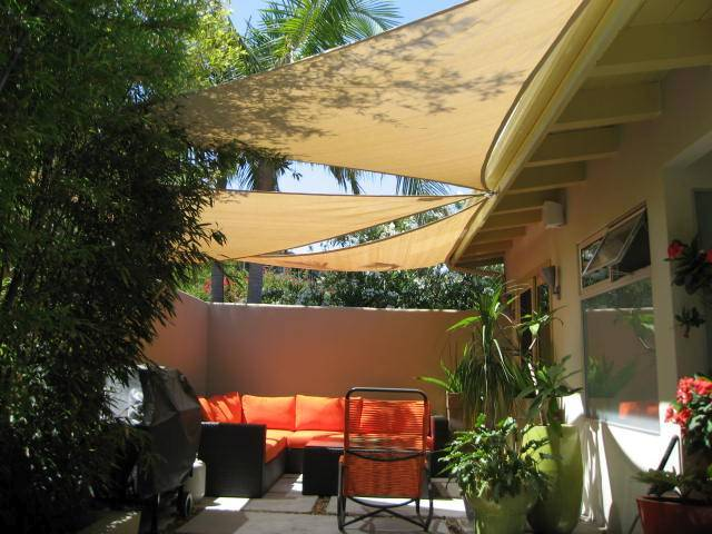 Multi Shade Sails over Patio
