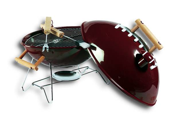 Portable Football Grill Tailgate Grill Fbgrill