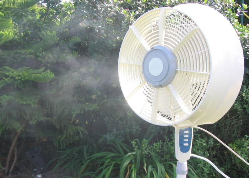 Outside Mister Fans : Outdoor misting fan cool u