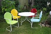 Retro 1950u0027s Vintage Style Metal Patio Furniture