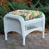 White Lexington Ottoman