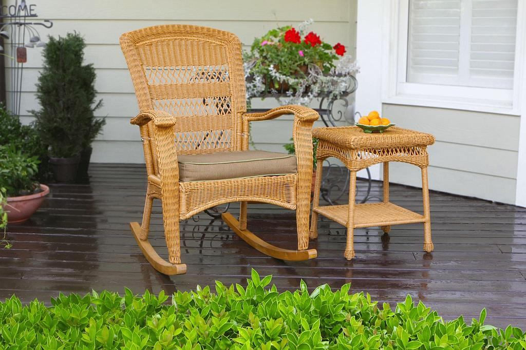 Lovely Portside Plantation Rocking Chair (Click To Enlarge)