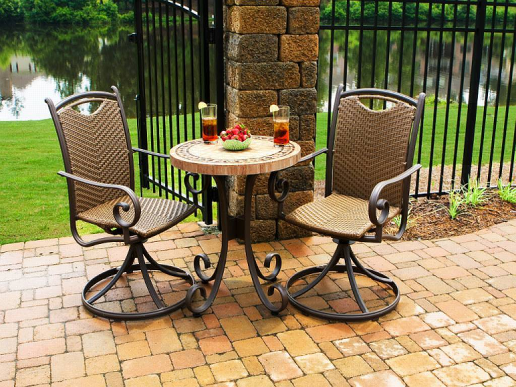 Resin wicker outdoor dining sets for Outdoor patio set