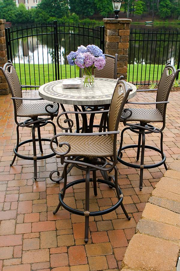 Swivel Patio Chairs Clearance Outdoor Patio Furniture Dining Chairs Set as  well High Top Patio . - Swivel Patio Chairs Clearance Top Furnitures Reference For Home